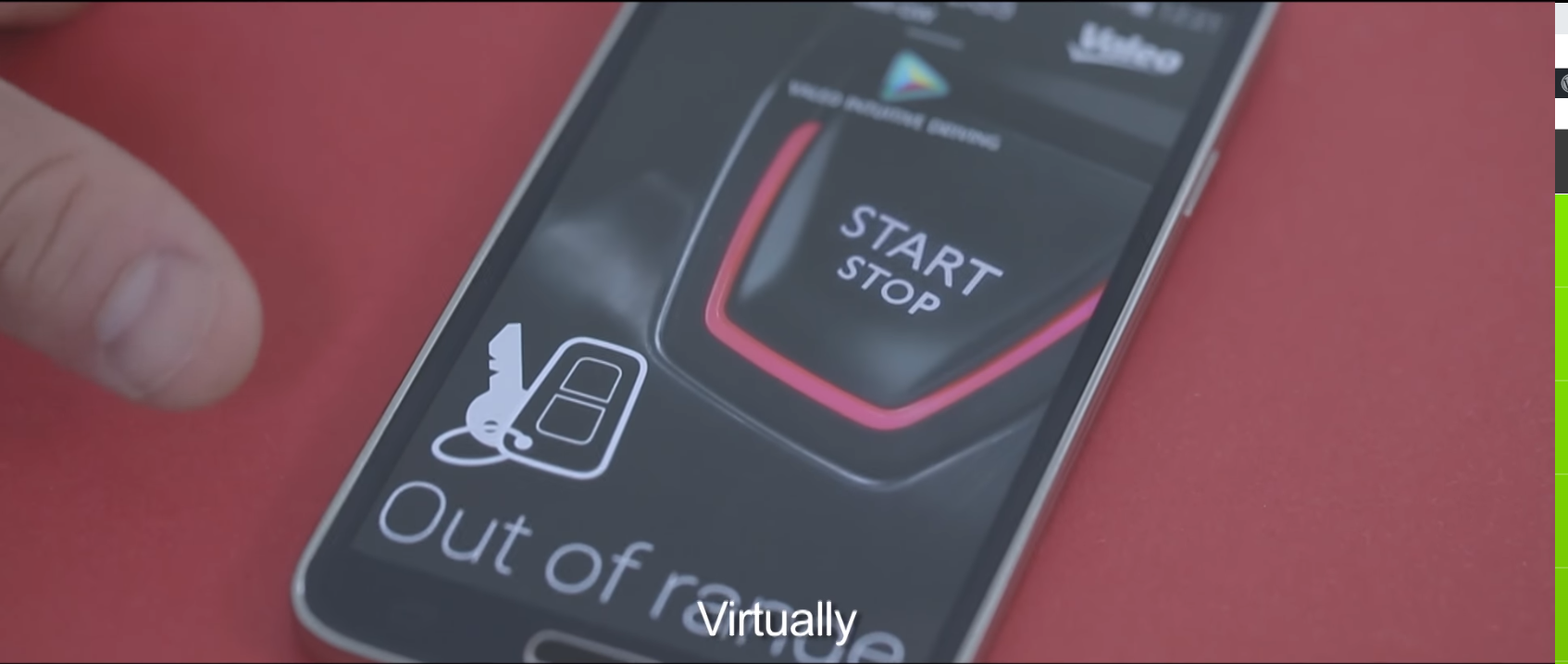 Valeo InBlue®: remote hands-free entry and start system