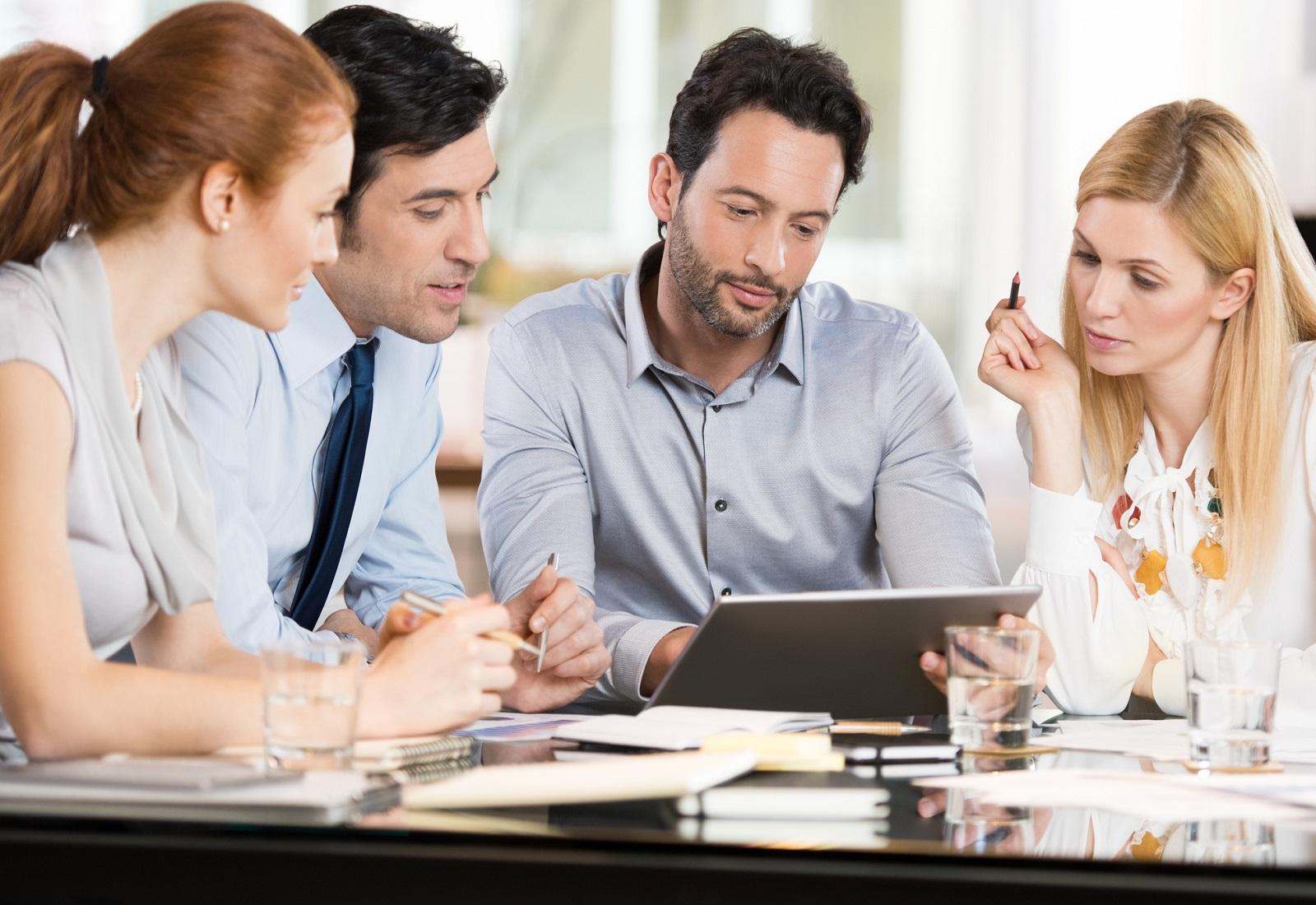people in a meeting header