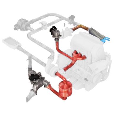 EGR valve - air intake module water CAC