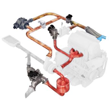 EGR valve - air intake module, water +