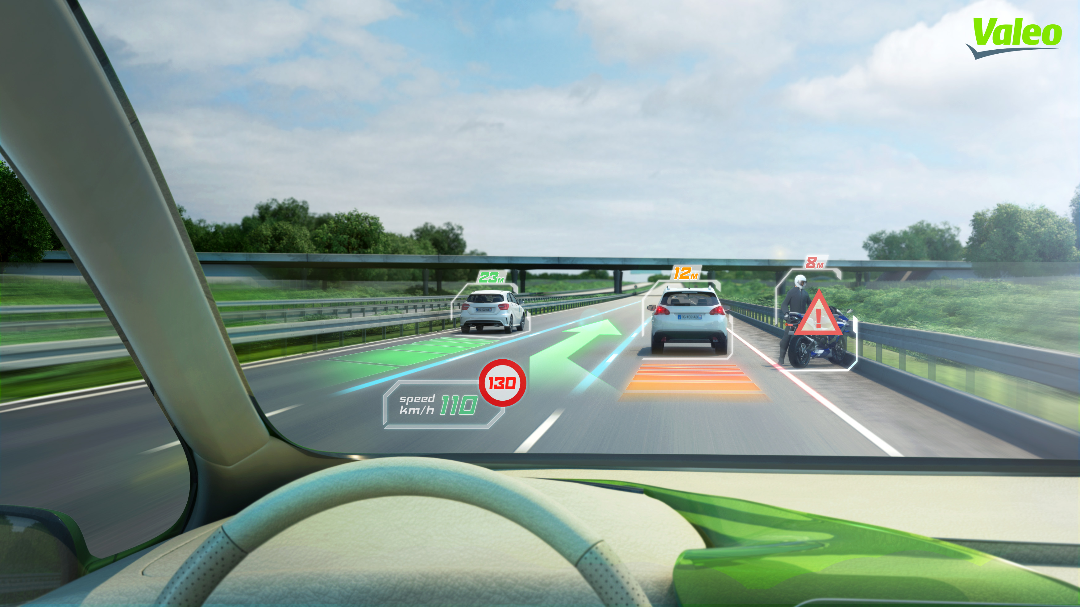 head up display the best solution to limit driver distraction