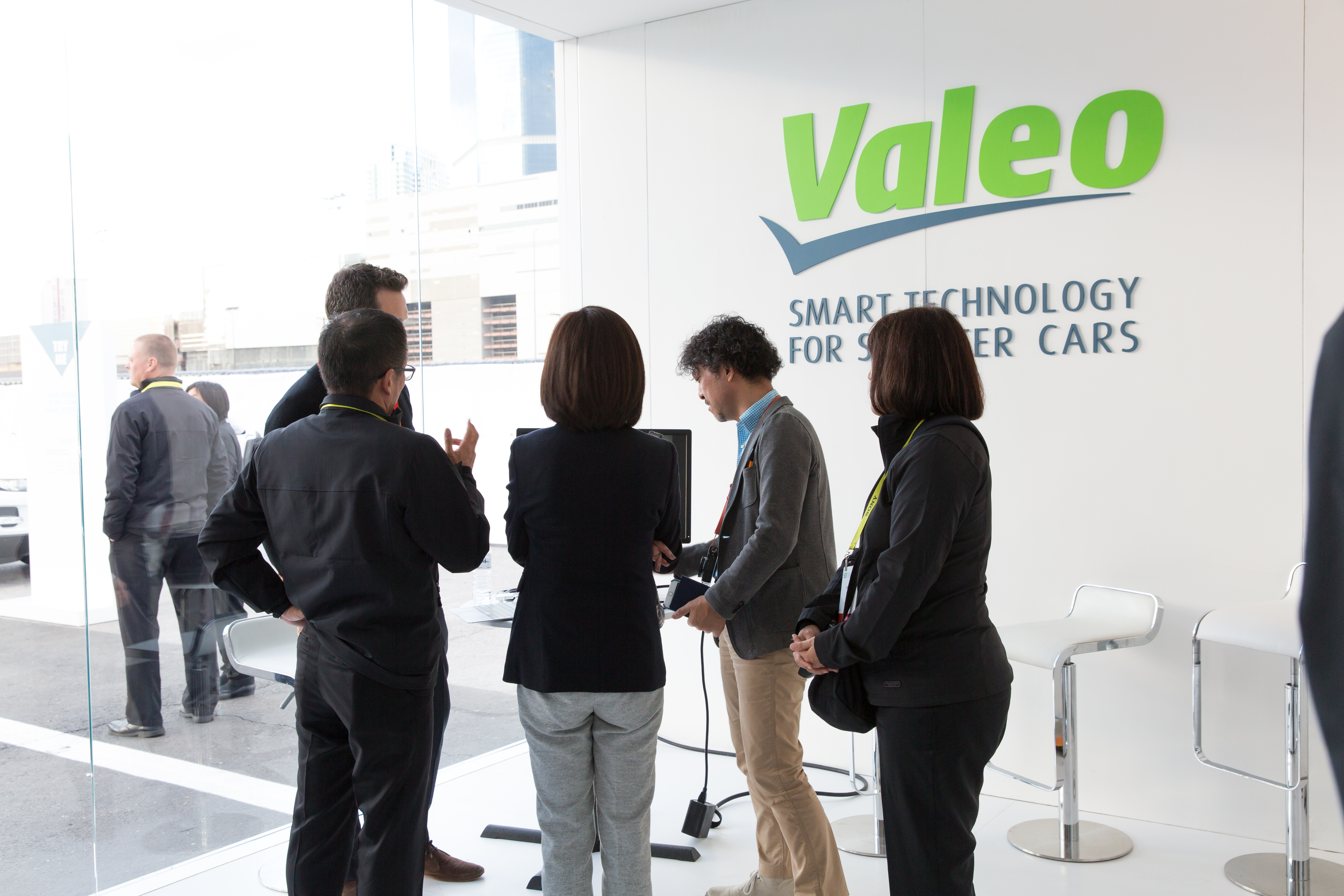 Valeo stand at CES 2017