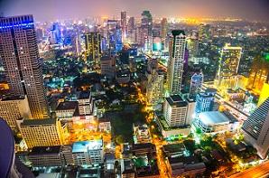 Bangkok skyline, Thailand.