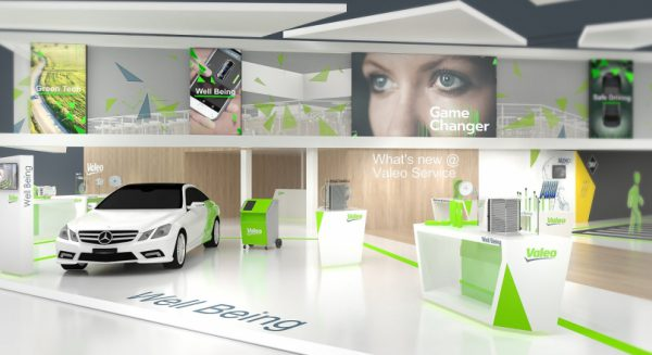 Well Being zone at Valeo Service stand at an event
