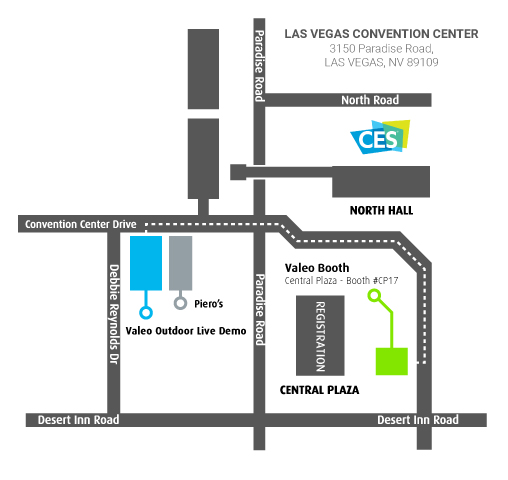 Valeo - Las Vegas Convention Center Booth location