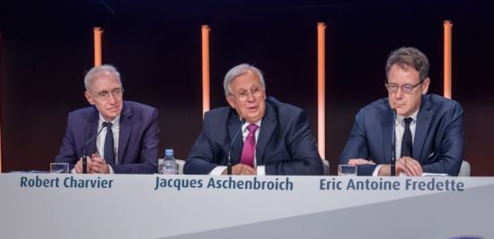 Picture of Robert Charvier Jacques Aschenbroich and Eric Antoine Fredette in a General Assembly conference