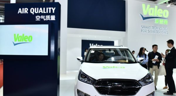 Valeo product at an exhibition in Asia (Shanghai Auto Show)
