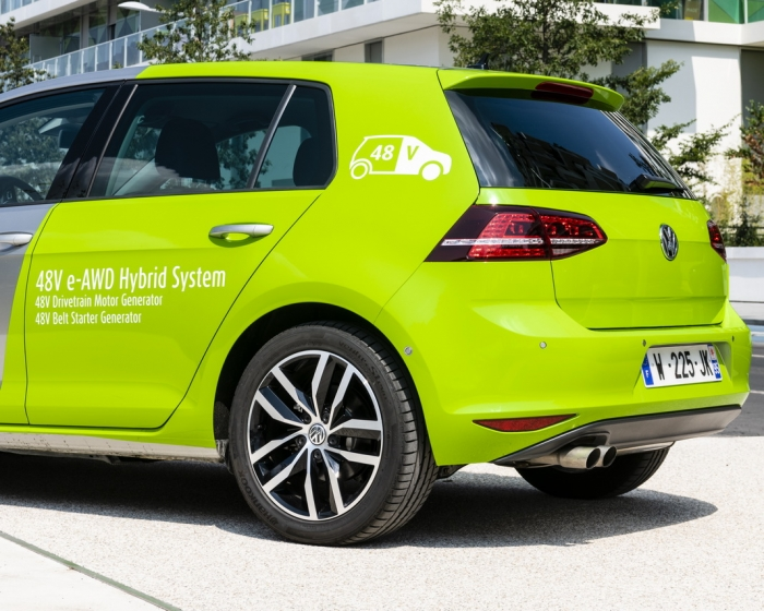 Valeo 48V hybrid car back