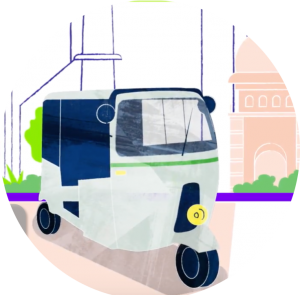 Rickshaw illustration