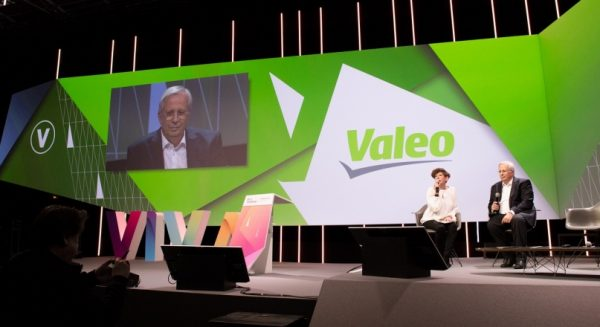 Valeo CEO Jacques Aschenbroich at a conference during Viva Tech event