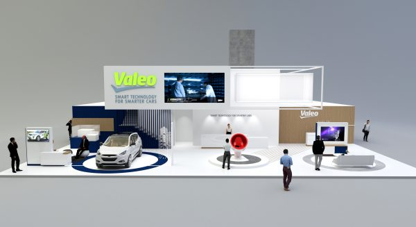 Valeo stand at auto event
