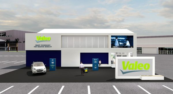 Valeo stand at CES 2020