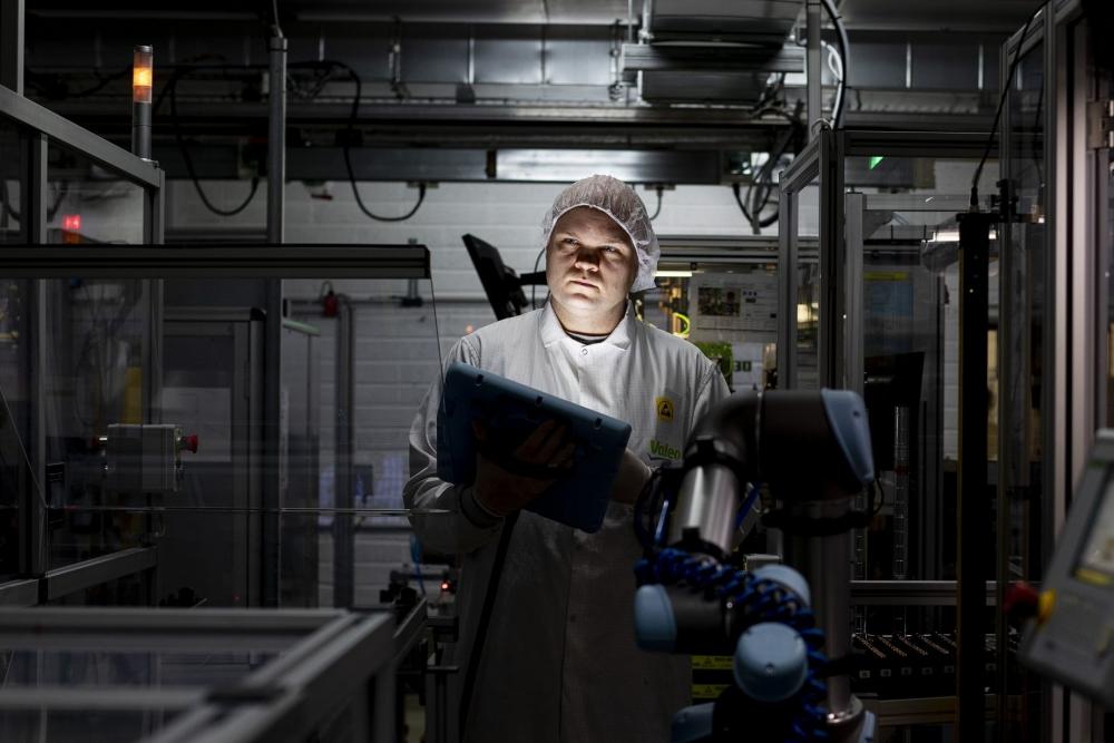 Female worker in Valeo Ireland plant