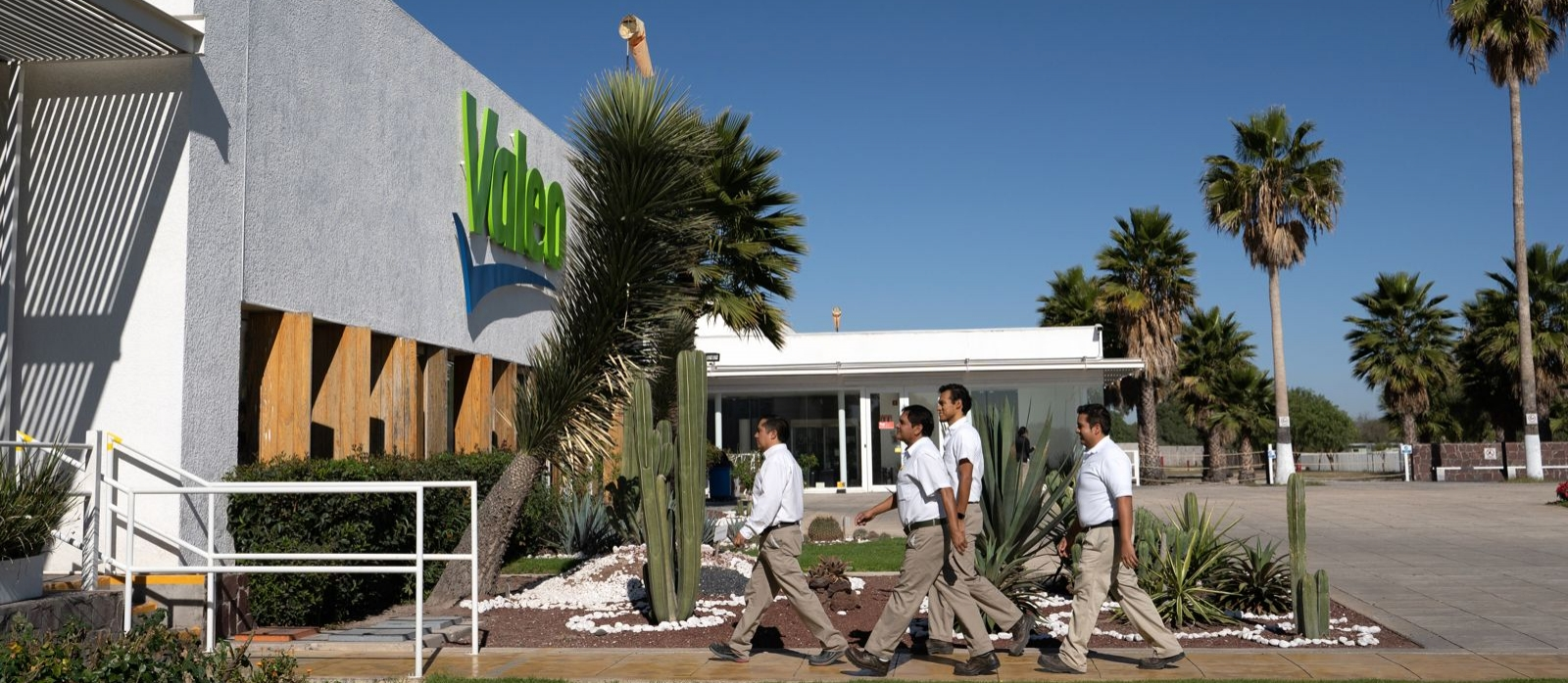 Valeo workers in Mexico plant
