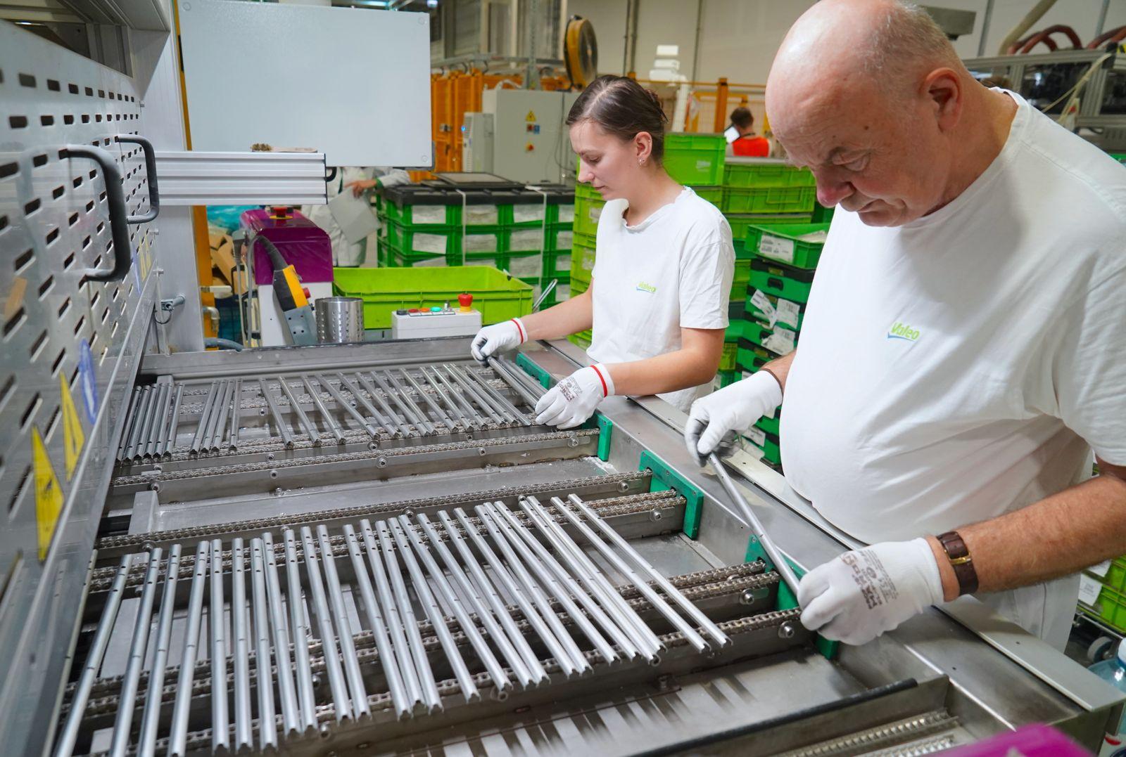 Valeo employees working in Poland Skawina plant