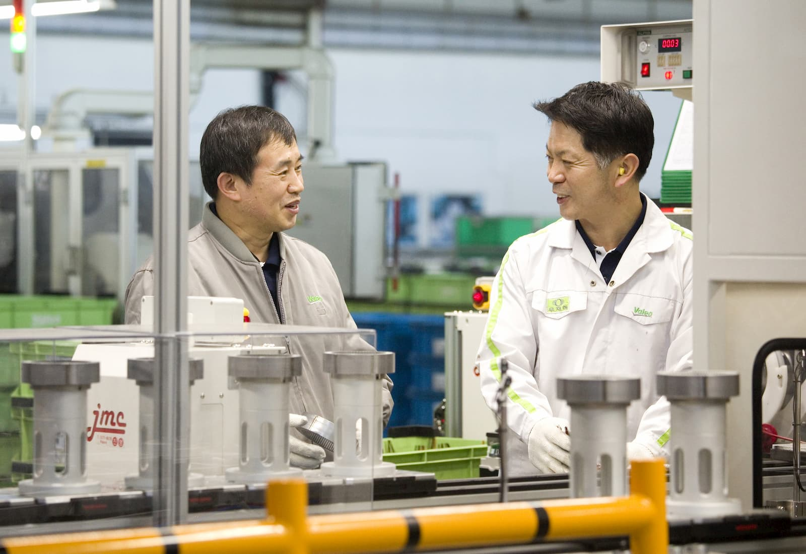 Two employees at Valeo South Korea plant