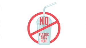 No plastic cups at Valeo