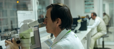 an employee inspecting a product at Valeo production plant in Bursa Turkey