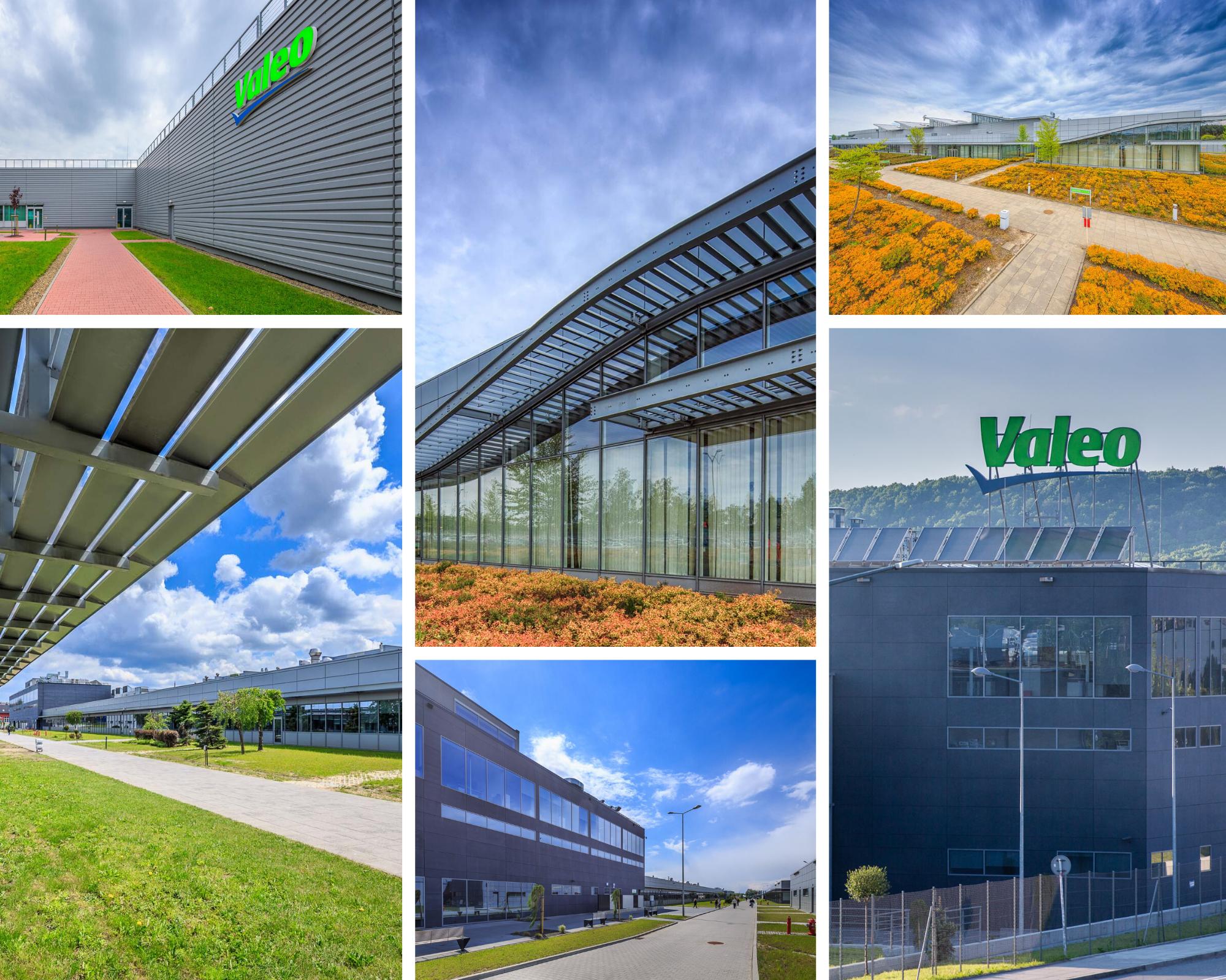 photo collage of Valeo plant in Poland Skawina