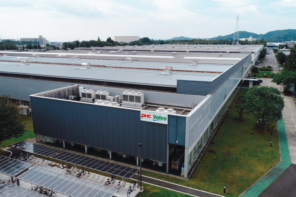 Valeo Japan plant aerial view