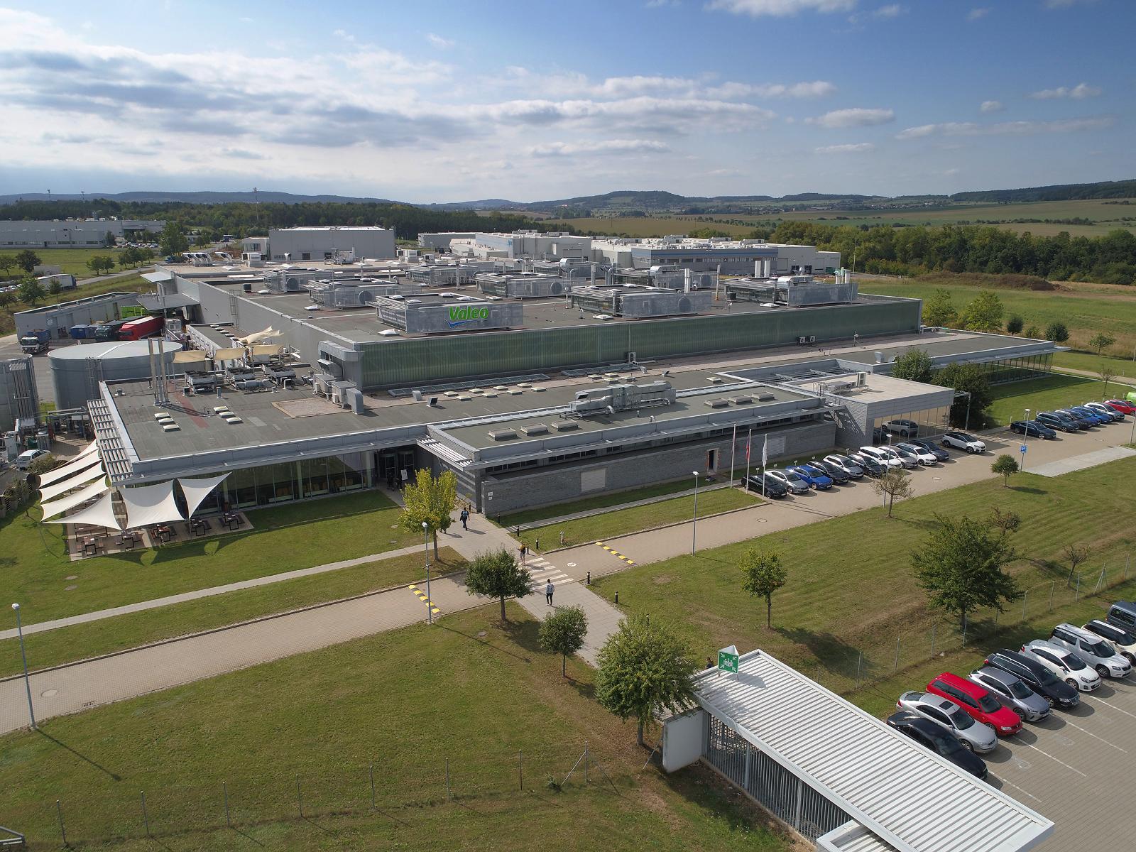 Aerial view of Valeo Zebrak plant
