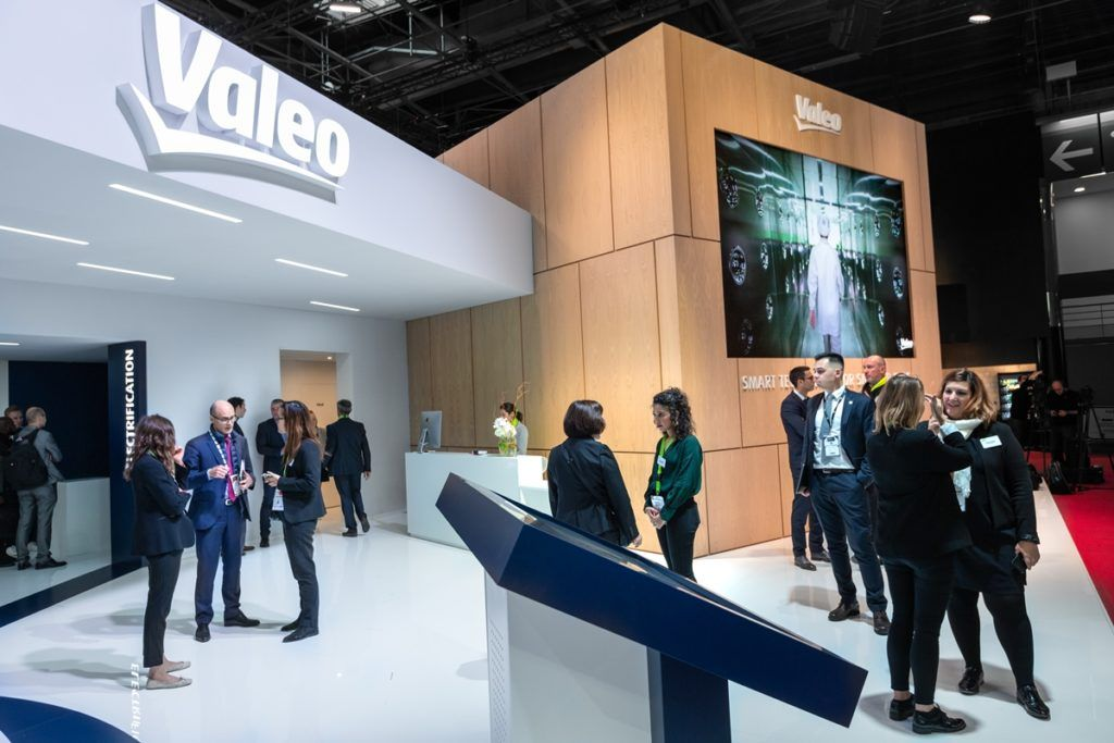 Valeo booth at an automotive exhibiton