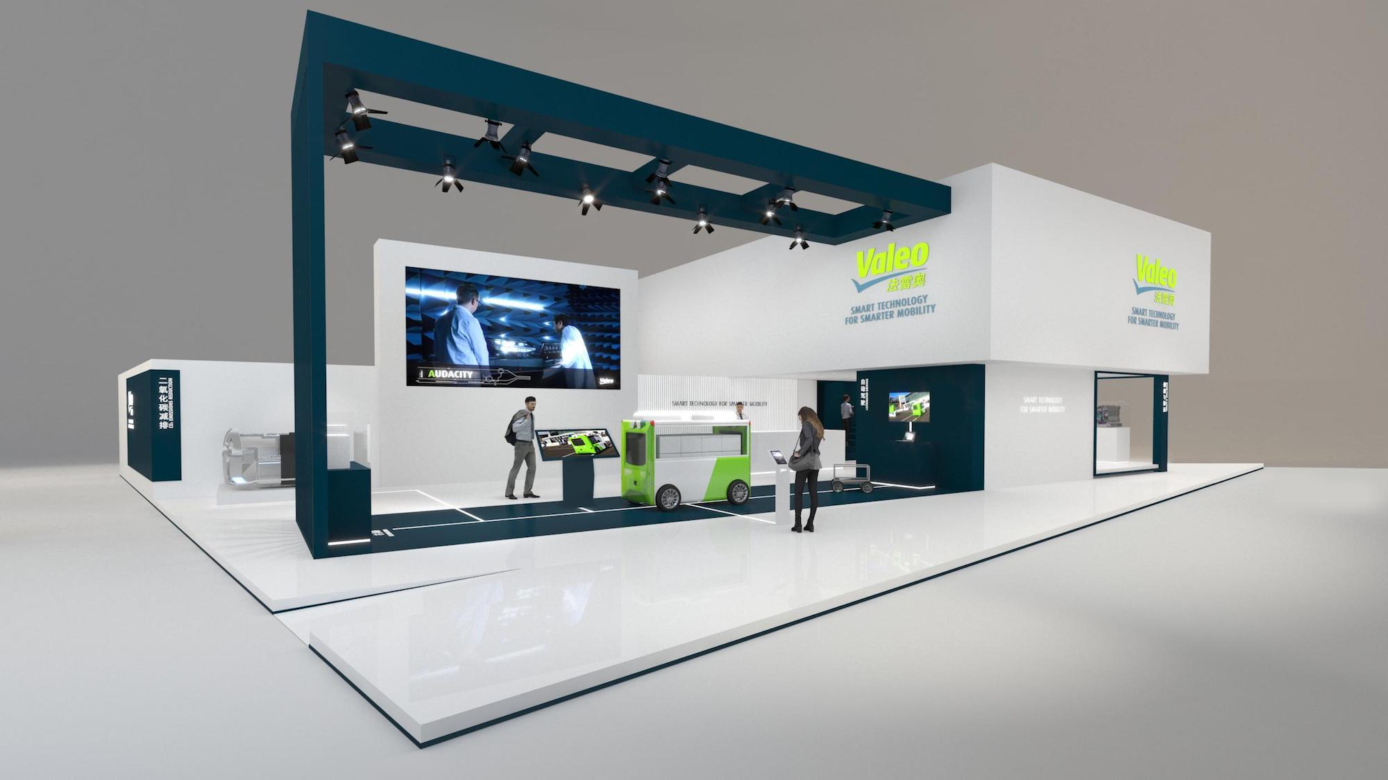 Auto Shanghai 2021 Valeo booth