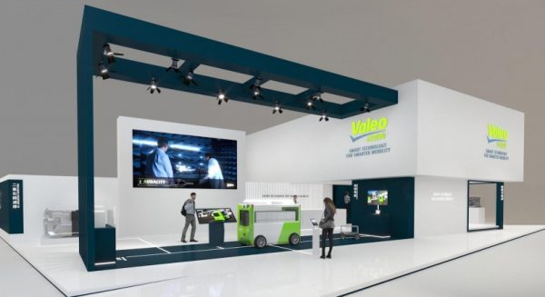 Stand Valeo au salon Auto Shanghai 2021