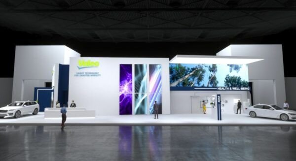 3D Image of the Valeo booth