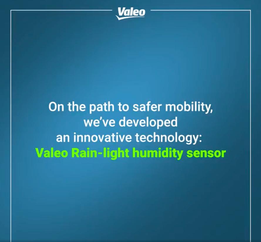 On the path to safer mobility, we've developed an innovative technology: Valeo Rain-light humidity sensor.